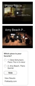 Lucy's poll for choosing music to perform in her project