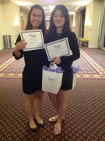Annabelle and Cara with their Society of Women Engineers awards